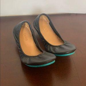 Tieks Matte Black Soft Leather Ballet Flat Size 9